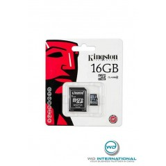 Carte micro SDHC 16go Kingston classe 4 + adaptateur sd