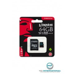 Tarjeta micro SDXC 64go Kingston 90R / 45W V30 + adaptor sd
