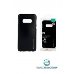 Coque silicone Samsung S10E Noir I-Jelly metal Case