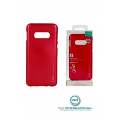 Coque silicone Samsung S10E Rouge I-Jelly metal Case