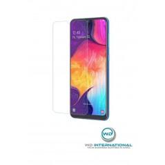 Samsung A50 vidrio templado en embalaje.