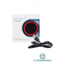 Chargeur induction sans fil (QI) Noir/Rouge