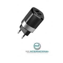 Adaptateur Secteur Hoco Energy C55A Double USB 2.4A Noir