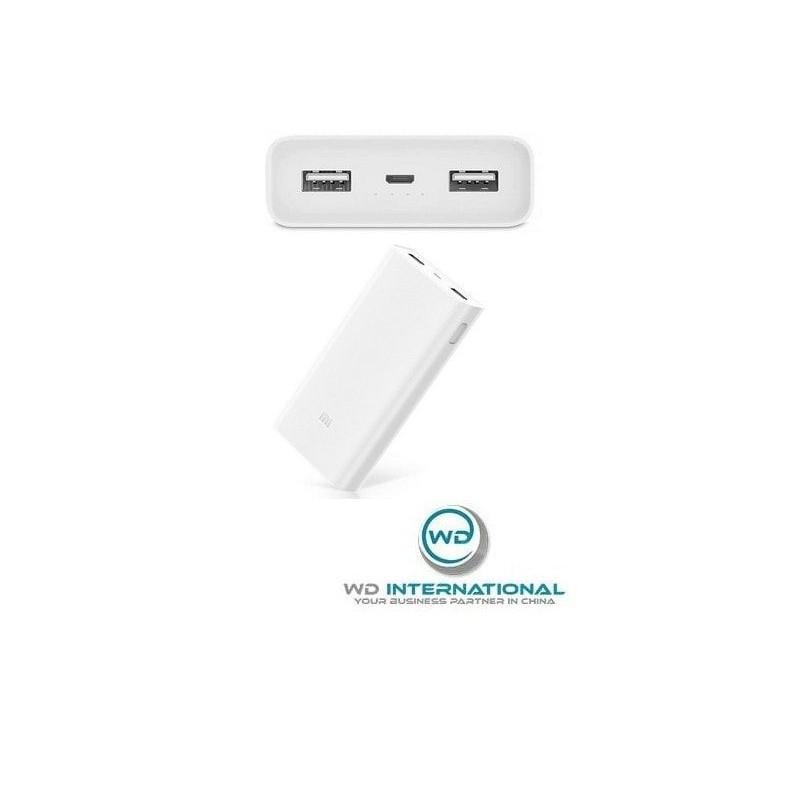 Batterie Externe Power Bank Xiaomi Mi 2C 20000 mAh Blanc