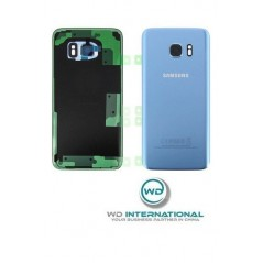 Back Cover Samsung S7 Edge Coral Blue Service Pack