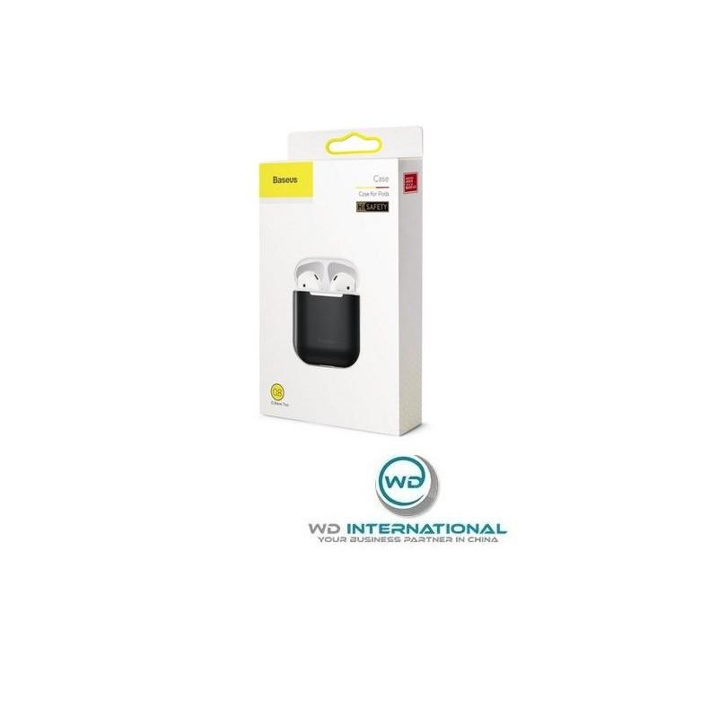 Coque de protection Airpods Noir BaseUs