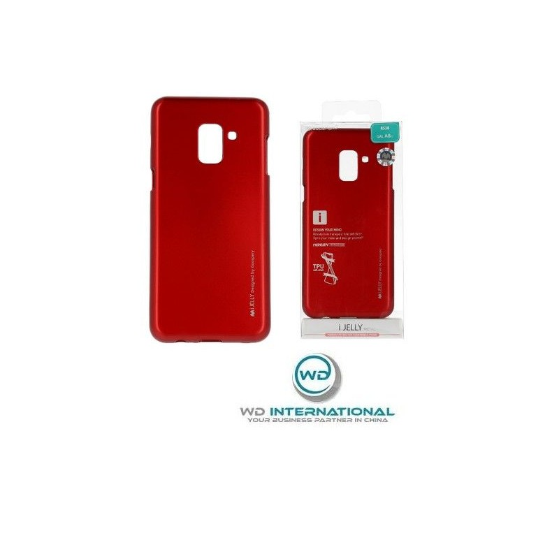 Coque I-Jelly Metal Case Samsung A20 / A30 Rouge