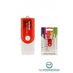 Lector de tarjetas CR02 Azul SD / M2 / Micro SD