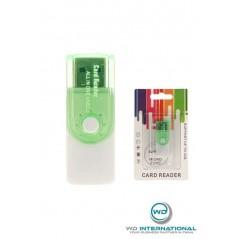 Lector de tarjetas CR02 Verde SD / M2 / Micro SD