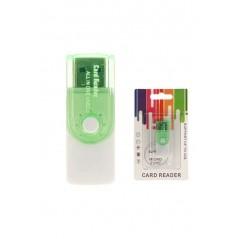 Lecteur de carte CR02 Vert SD/M2/Micro SD