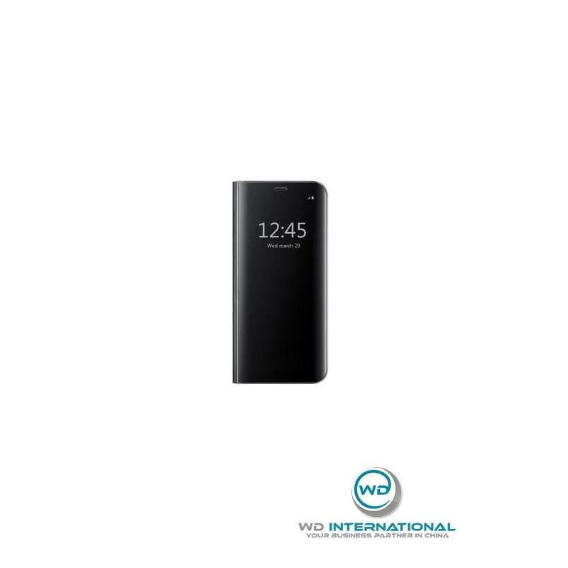 Coque clear View Samsung J7 2017 Noir