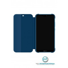 Coque Smart View Flip Cover Huawei P20 Lite Bleu