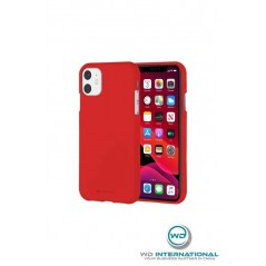 Coque silicona iPhone 11 rouge suave sensación