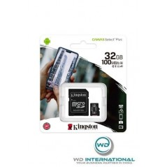 Carte Micro SD 32GB Kingston Canvas Select Plus