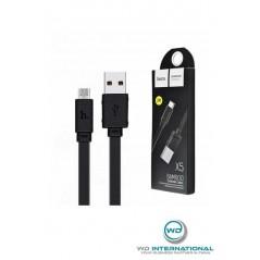 Câble HOCO X5 Bamboo Micro Usb 1m Noir