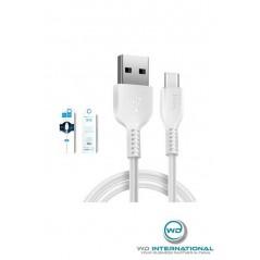 Câble HOCO X20 USB Type C Blanc 1m