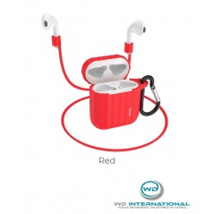 Housse En silicone pour apple Airpod Mince Rouge