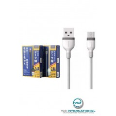 Câble Remax Micro USB 2.4A Blanc
