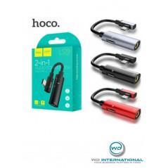 Câble Hoco Convertisseur Audio 2 en 1 de Type C Noir