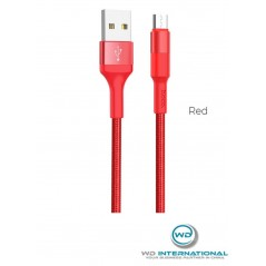 Câble Hoco X26 Micro USB Rouge 1m