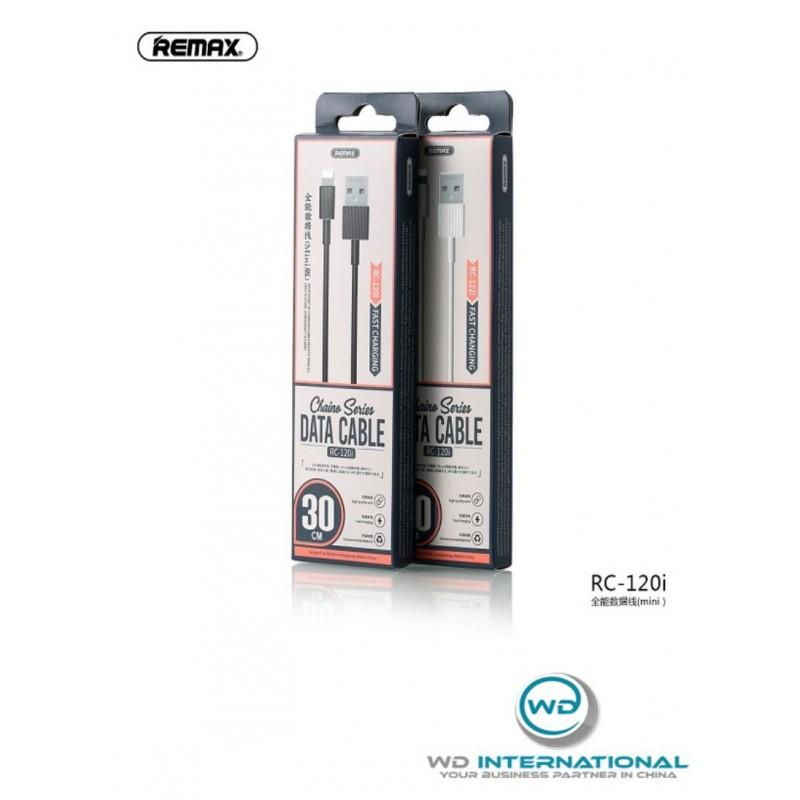 Câble Remax Lightning 2.1A 30 cm Noir