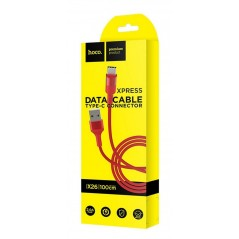 Câble Hoco USB Type-C X26 1M Rouge