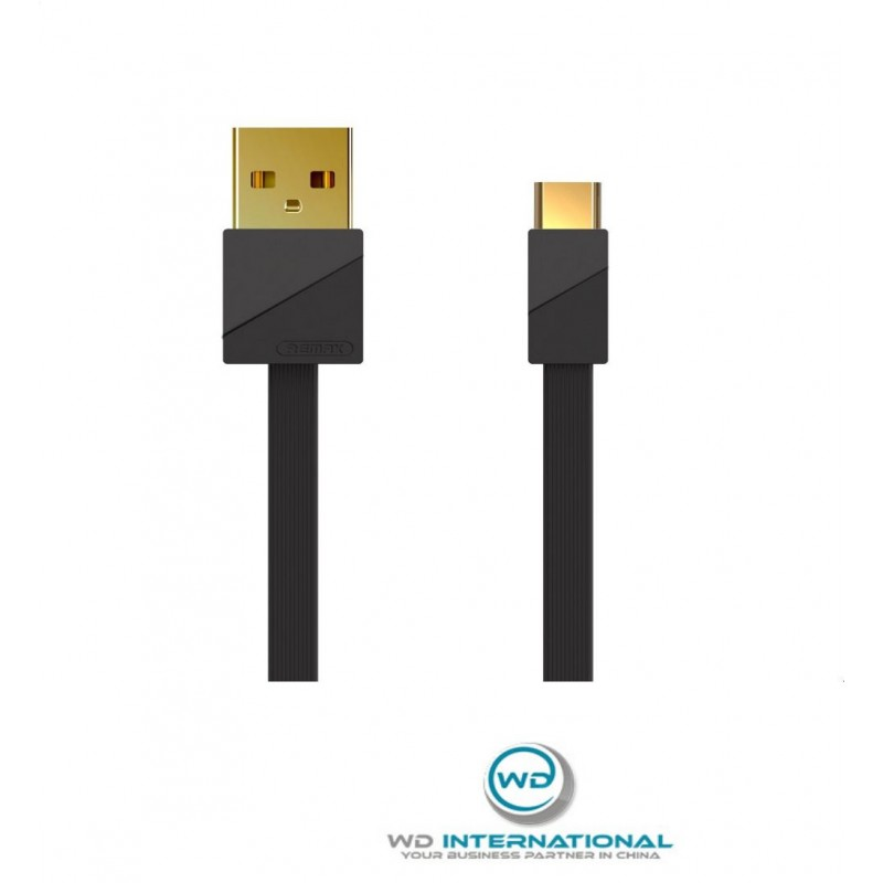 Câble couleur Noir USB Type-C Remax Or plating RC-048A