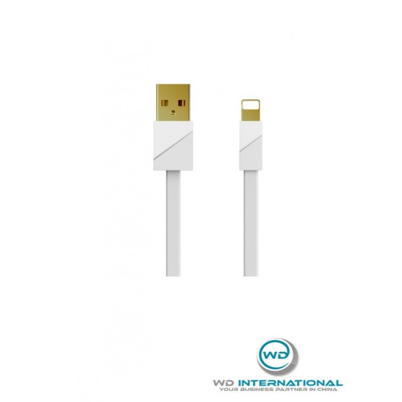 Cable Color oro Blanco Lightning Remax RC-048I