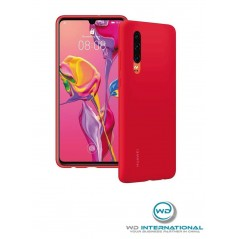 Coque Officielle Silicone Rouge Huawei P30