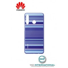 Coque Officielle PU Case Huawei P30 Lite Striped Bleu
