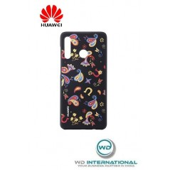 Carcasa Oficial PU Case Huawei P30 Pro Negro Floral