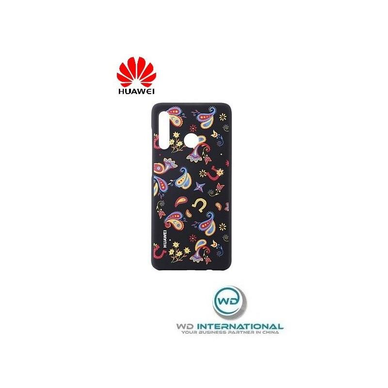 Coque Officielle PU Case Huawei P30 Lite Noir Floral