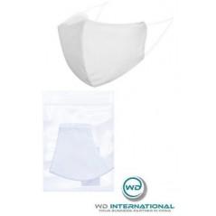 Masque de protection profilé en tissu Blanc