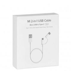 Câble Micro USB vers Type-C - 2 en 1 Blanc Xiaomi de 30 cm