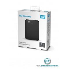 Disque dur externe Noir WD Elements Portable 1 To USB 3.0