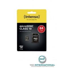 Carte Micro USB SDXC intenso 64Gb