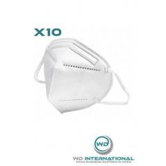 Lot de 10 Masques KN90 - FFP2