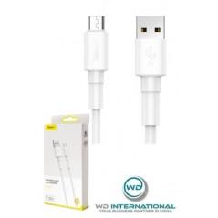 Mini-Câble Blanc Micro USB- 1m 2.4A - Baseus