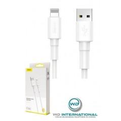 Mini-Câble Blanc Lightning- 1m 2.4A - Baseus