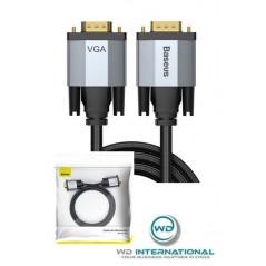 Câble vidéo Gris foncé VGA vers VGA 1080P de 2m pour projecteur TV - Baseus Enjoyment