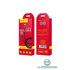 Câble Hoco X26 Micro USB Noir Rouge 1m