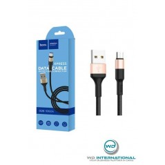Cable Hoco X26 Micro USB Noir Or 1m