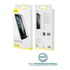 Verre Trempé Baseus Anti-Lumière Bleue Full iPhone XR / 11 /12 Pro Noir