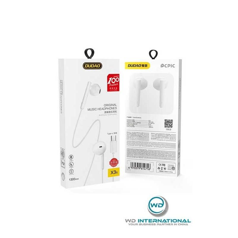 Écouteurs Filaire Blanc USB-C - Dudao X3S