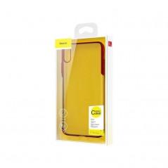 Carcasa roja transparente Baseus Glitter iPhone XS Max (WIAPIPH65-DW02 / WIAPIPH65-DW03 / WIAPIPH65-DW09)