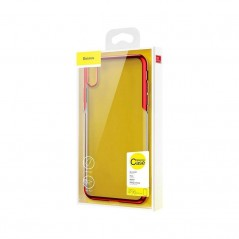 Carcasa roja y transparente Baseus Shining iPhone X / XS (ARAPIPH58-MD09)
