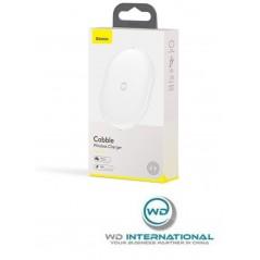 Chargeur Sans Fil Blanc Baseus Cobble 15W avec Câble USB vers Type-C 1M (WXYS-02)