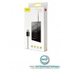 Chargeur Sans Fil Noir Baseus Card Ultra-Thin Avec Câble USB 1M (WX01B-01)