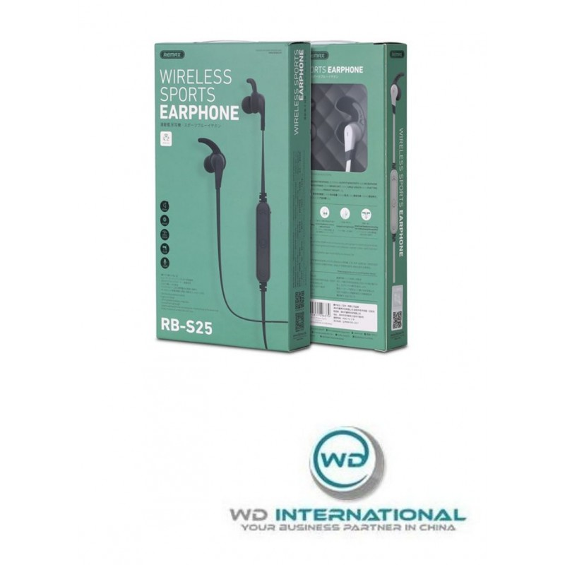 Écouteurs Wireless Noirs Remax Sports RB R25
