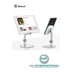 Soporte de escritorio plateado para Tablet y Smartphone Baseus Literary Youth (SUWY-0S)